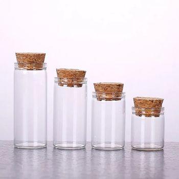 2 sztuk 5 8 10 12 14ml mini bez rękawów szklane butelki z korki puste słoiki fiolka na herbatę szafran słodkie żywności prezent butelki prezent ślubne słoiki tanie i dobre opinie NoEnName_Null Europa Flower Kolorowe glazury