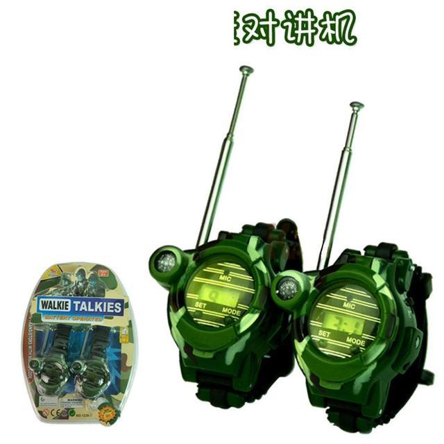 2 шт рации Часы игрушки для детей 7 в 1 Камуфляж 2 способа радио мини Walky Talky интерфон часы детская игрушка