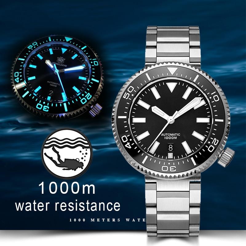 1000M Diver Watch Men NH35 Japan Tuna SKX007 Automatic 316L Stainless Steel Mechanical Watch Ceramic Bezel C3 Super Luminous