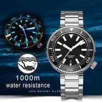 Reloj de buceo de 1000M para hombre NH35 Japan Tuna SKX007, reloj mecánico automático de acero inoxidable 316L, bisel cerámico C3 superluminoso