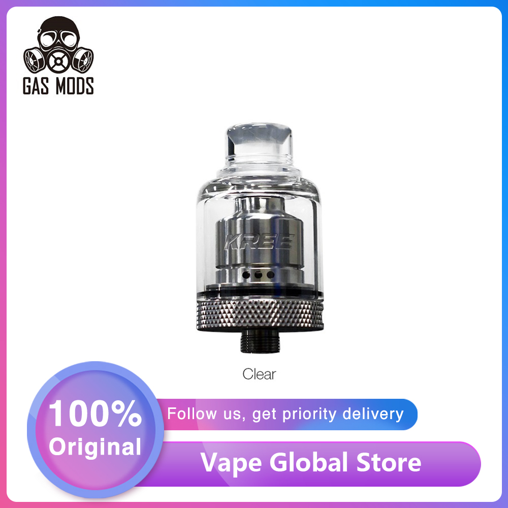 Original GAS MODS Kree RTA 2ml Capacity With Easy Single Coil Building Deck 22mm RTA Atomizer Vape Tank E Cigarette Vs Zeus X