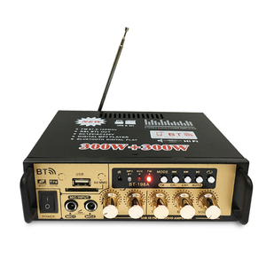 Image 3 - Hot 3C 600W Audio Power Amplifier with EU Plug 12/220V 2CH Mini HIFI Bluetooth Digital Audio Amp for Home /Car