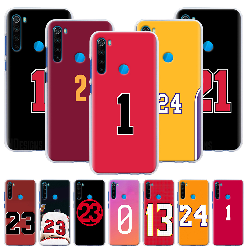 Basketball Number Hard Case For Xiaomi Redmi Note 6 7 8 Pro 8T 9S 9 Pro 6A 7A 8A K20 K30 Pro Phone Cover Capa
