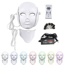 Led Mask Photon Therapy Electric LED Facial 7 Colors Skin Rejuvenation Anti Wrinkle Acne Whitening Face Care Tool