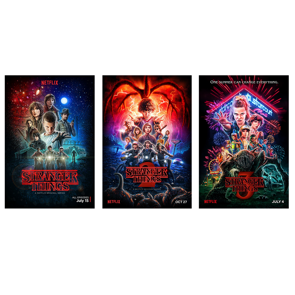 TV Series Stranger Things Silk Poster Season 2 3 Eleven Posters Wall Art Prints Kids Room Decor Fantasy Silk Pictures