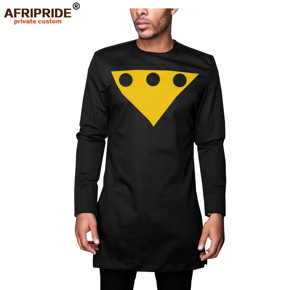 African Attire for Men Long Sleeve Slim Fit Shirt Pants Set Tracksuit Men`s Dashiki Shirt Suit AFRIPRIDE A2016006