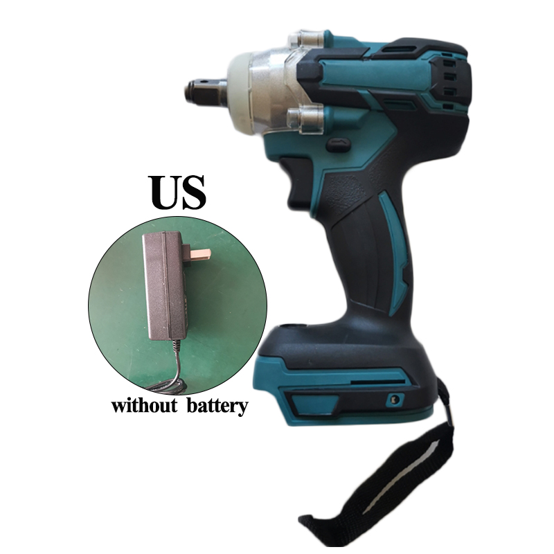 18V 350N Cordless 1/2 Inch Impact Wrench With Charger 10-3200 Rpm UK/US/EU Plug House Decoration Accessories Building No Battery