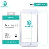 Para o iphone se 2 vidro nillkin incrível h + pro protetor de tela vidro temperado para o iphone se 2020 se2