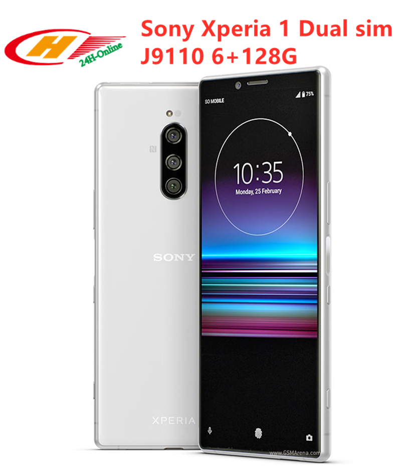 Sony Xperia 1-J9110 Dual-Sim 128GB 4gbb LTE NFC Adaptive Fast Charge Octa Core Fingerprint Recognition