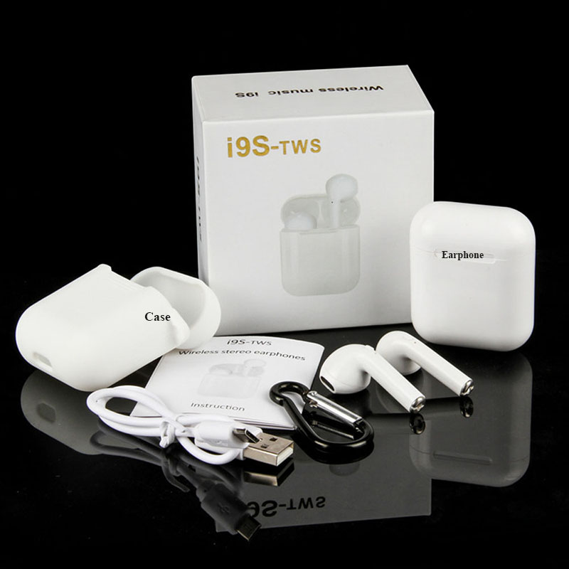 i9s <font><b>i11</b></font> Press Control <font><b>tws</b></font> Wireless <font><b>Bluetooth</b></font> Earphones <font><b>5.0</b></font> In-ear Waterproof Motion Headphone For Mobile Phone With Airpods Case image