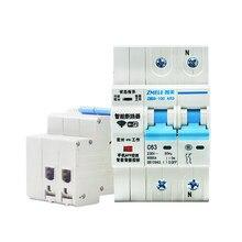 2P WiFi inteligentny wyłącznik instalacyjny Tuya APP 220V automatyka przeciążenie zwarcie z funkcją monitorowania energii