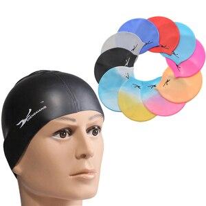 Эластичные силиконовые водонепроницаемые шапочки для купания 2020, защита ушей, длинные волосы, спортивная шапочка для бассейна для мужчин и ...