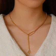 Cute Butterfly Necklace For Women Adjustable Gold Box Chain Statement paperclip shape Pendant Female Chocker Best Jewelry chic butterfly choker necklace for women gold silver chain statement collar female chocker best shining jewelry party 2020 new