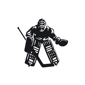 Lifelike Car Sticker Vinyl Window Accessories Ice Hockey Sports Stylish Cover Scratches PVC 11cm X