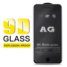9D Anti-glare Matte Full Tempered Glass Screen Protector For iphone XS Max XR 7 8 6S Plus Anti Fingerprints Glass Film