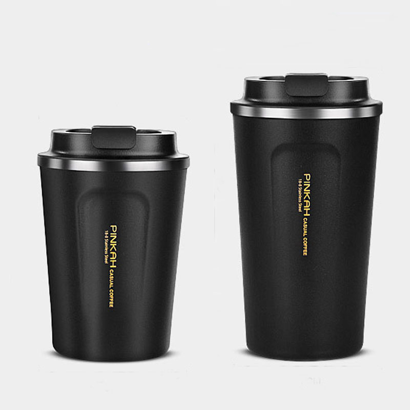 2019 Coffee Vacuum Flask Mugs Thermo Cups Stainless Steel Car Sport Heat Coffee Cup Travel Thermos Water Bottle