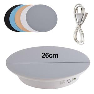Image 3 - 360 תואר מסתובב חשמלי צילום מסתובב פטיפון תצוגת Stand עבור תכשיטי מוצר תצוגת 3D סריקה פאן עם PVC