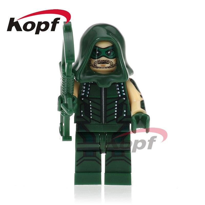 Single Sale Figures Arrow White Black Mister Terrific Green Lantern Model Building Blocks Bricks Toys For Children XH 728