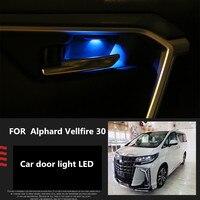 2PCS Car Interior Lights Atmosphere Lights Car Lights Modified Door Lights LED 5000K 9W FOR Toyota Alphard Vellfire 30
