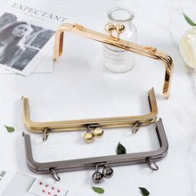 20.5 cm gold antique brass gunmetal one pieces metal purse frame with screws sewing purse frames obag handles accessories(China)