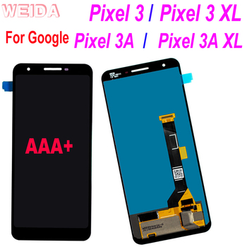 For Google Pixel 3 / Pixel 3 XL / Pixel 3A / Pixel 3A XL LCD Display Touch Screen DigitizerAssembly Black with free tool