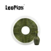 LeoPlas 1kg 1.75 millimetri Flessibile Morbido Oliva Militare Esercito Verde di Gomma di TPU Filamento Per Stampante FDM 3D di Consumo di Stampa di alimentazione