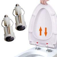 Wsfs conjunto de dobradiças de assento do vaso sanitário  parafusos de fixação fácil instalação  2 pacotes  substituição universal  conjunto de dobradiça do assento do vaso sanitário