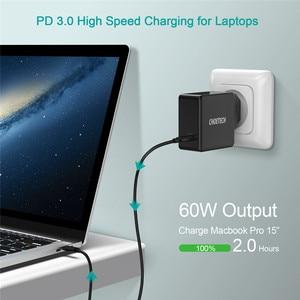 Image 2 - CHOETECH PD 60W USB C 벽 충전기 맥북 프로/에어 iPad 프로 삼성 아수스 에이서 델 태블릿 충전기 QC 3.0 닌텐도 스위치에 대한