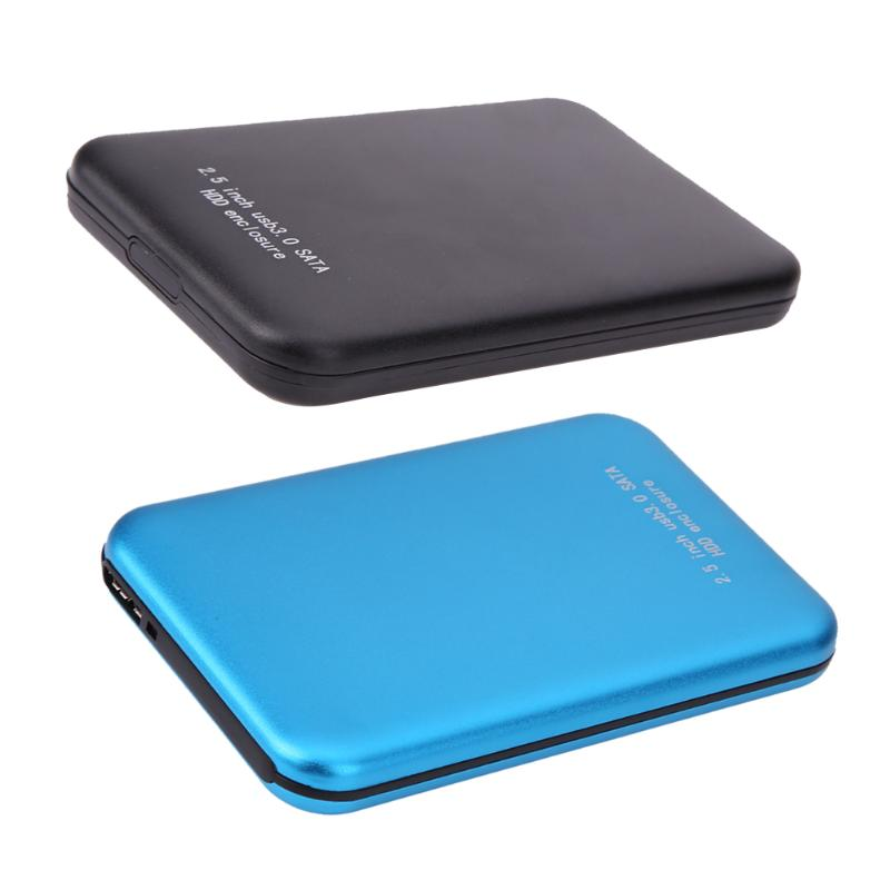 2.5 Inch High Speed 3TB USB3.0 Micro USB To SATA External Storage HDD HD Blue Aluminium Case Box Hard Disk Drive Enclosure