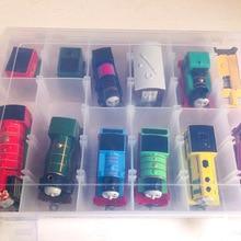 Thomas and Friend Portable Plastic Storage Box Hold 12 Trains Model Car Multipurpose PVC Train Toy Box Kids Juguetes Gifts