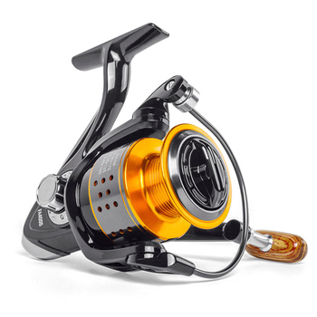 2020 NEW Fishing Reel Wooden Handshake Metal Spool Spinning Reel 8KG Max Drag High Speed 5.2:1 Professional Reel Fishing Coil