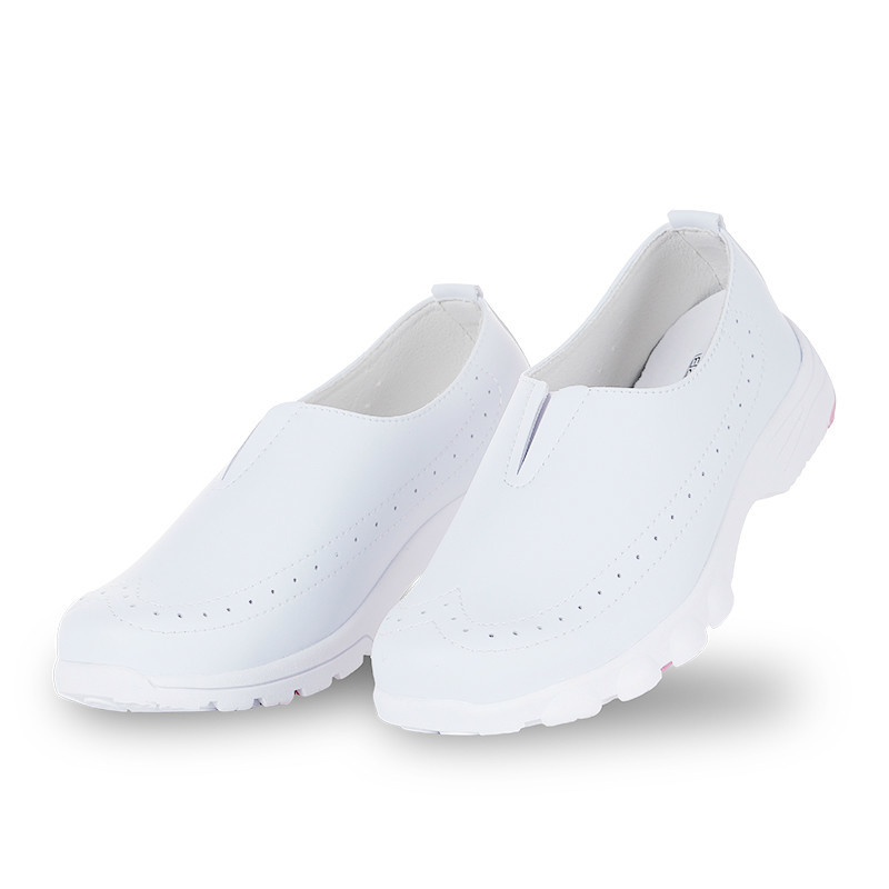 New White Nurse Shoe Soft Flat Bottom Women Comfortable Hospital Medical Doctor Dental Beauty Salon Breathable Work Shoes