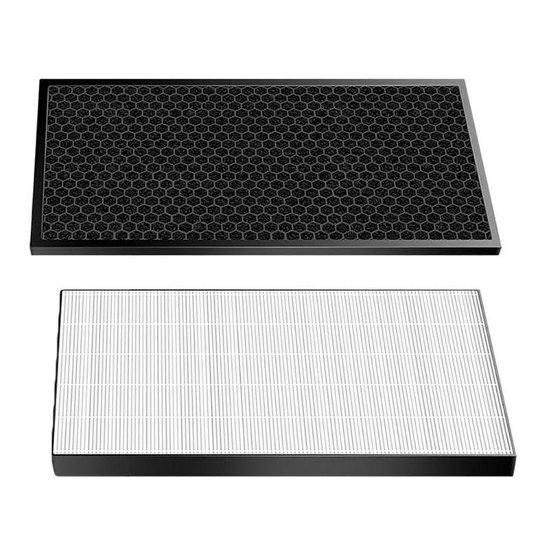 1*Filter+ 1*Carbon Filter For Sharp KC-D50/E50/F50/E40/50TH1-W D40E Air Purifier