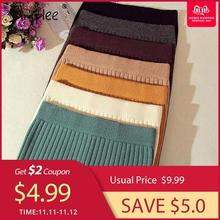 Simplee Elastic band women skirts Autumn winter warm knitted straight s