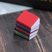 4pcs/set Dollhouse Mini Doll House Pocket Book Scene Shooting Props 4 Color Mini Books Model 1:12 Furniture Accessories