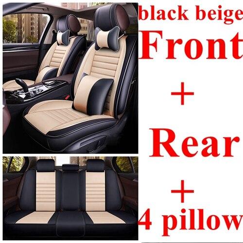 2 X Añadido para asiento de coche realizado en cuero negro beig marrón