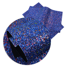 Vinyl Fabric Crafts Handmade-Materials Chunky Glitter Faux-Leather Plain-Color DIY 1yc10209