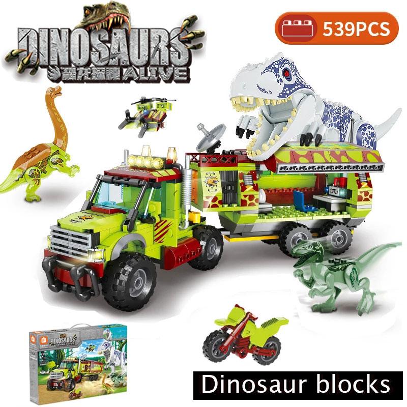 Klocki zabawka dla dzieci kompatybilny Raptor pterodaktyl miasto Off-samochód Technic Dino Jurassiced Park World Dinosaur