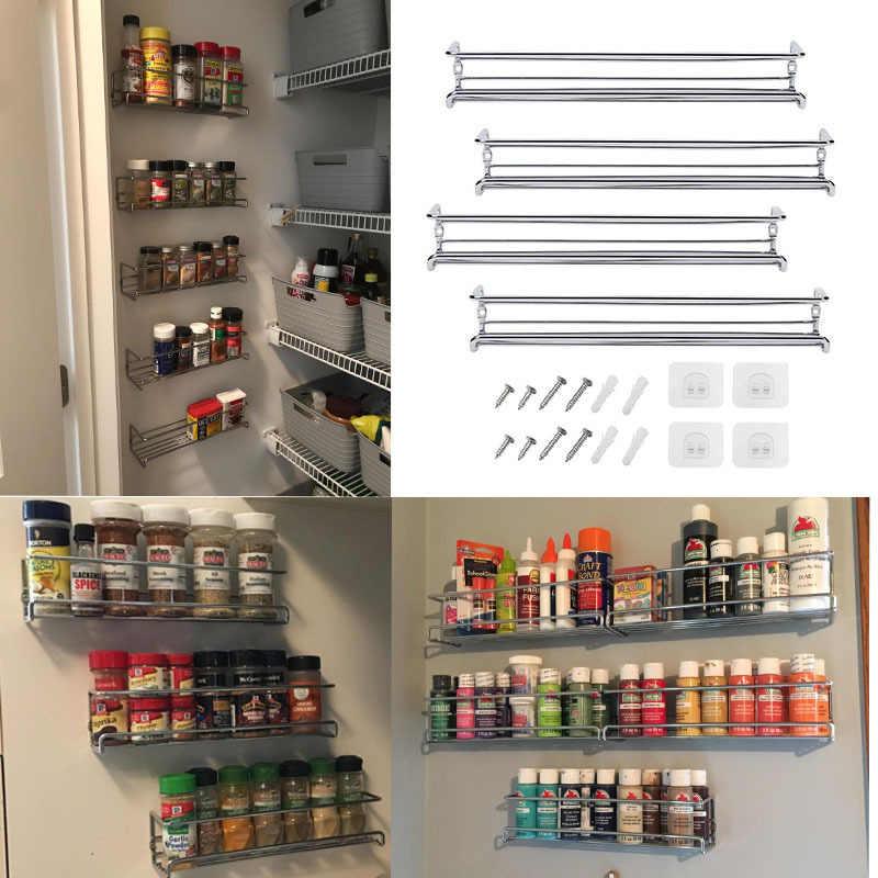 wall mount spice rack organizer for cabinet spice shelf seasoning organizer pantry door organizer spice storage