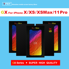 GX OLED For iPhone X Xs Max 11Pro LCD Display Touch Screen Digitizer Assembly Tested No Dead Pixel Replacement LCDs