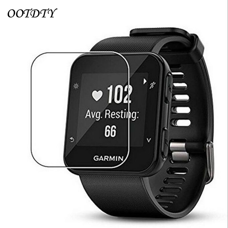1xUltra HD Clear Tempered Glass Protective Film Guard For Garmin Forerunner 35 Fr35 Smart Watch Toughened Screen Protector Cover