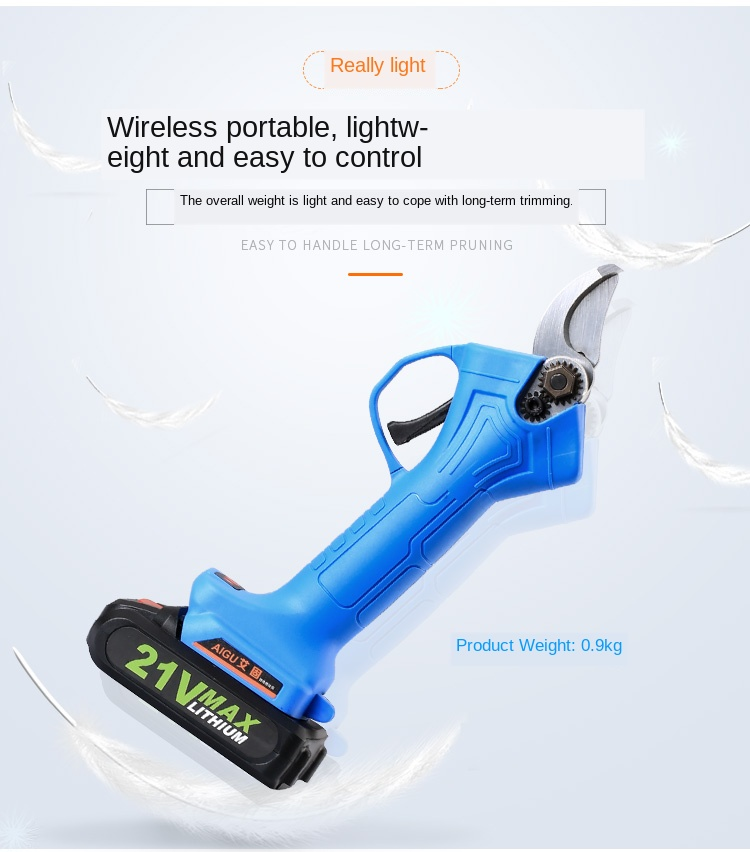 Gardening Electric Scissors Pruning Branches Charging Mode Trees Large Opening Lightweight Wireless Detachable Alloy Steel Quick