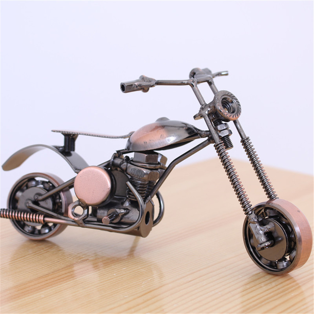 Motorcycle Model Pendants Creative Office Home Desktop Cool Retro Metal Motorcycle Model Ornaments Craft Car Decoration|Ornaments| |  - title=