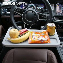 Araba masası kahve tutucu dizüstü bilgisayar masası direksiyon evrensel taşınabilir yemek çalışma içecek koltuk tepsisi ürünler oto aksesuarları