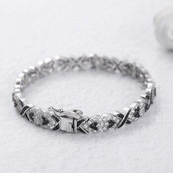 Real S925 Sterling Silver 2 Carats Diamond Bracelet for Women 925 Bijoux Pulseira Feminina Solid Silver 925 Jewelry Bracelets