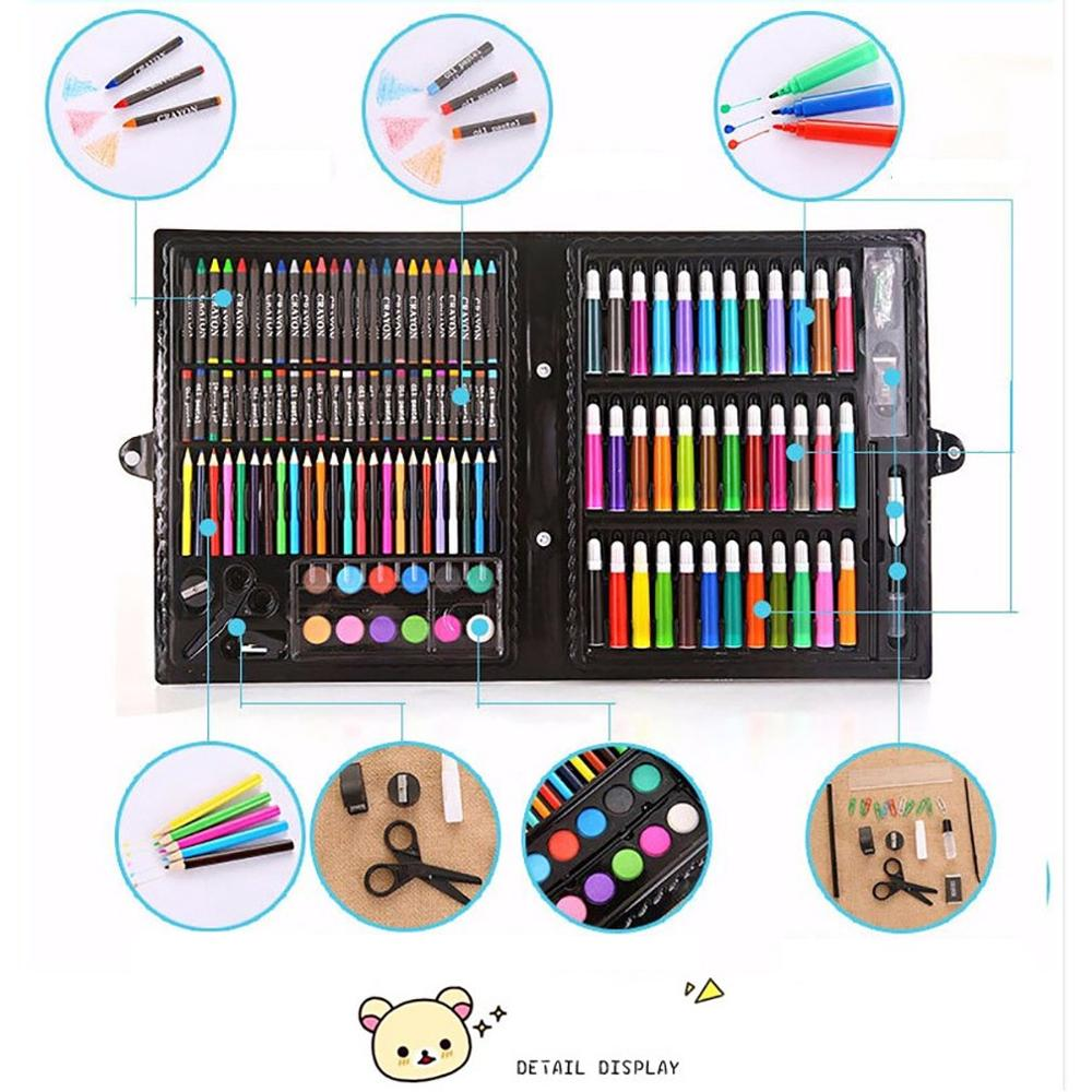 150Pcs Professional Color Pencil Child Drawing Set Painting Set Colored Pencils For Children-Colored Drawing Pencils Art Set
