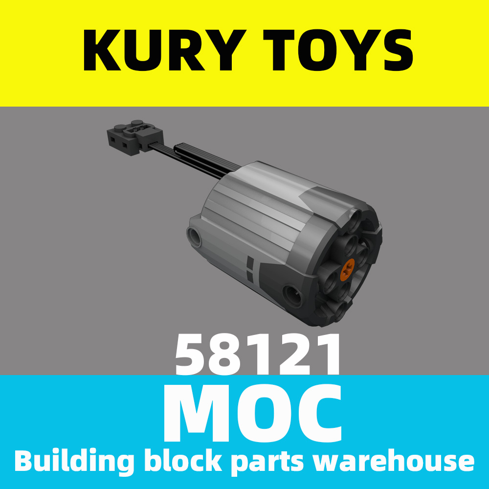 Kury Toys DIY MOC For 58121/8882 Building block parts For Electric, Motor 9V Power Functions XL type motor For Electric