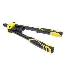 Rivet Gun Hand aluminum alloy Pull  Manual Woodworking Metal Household Repair Tools with 10pcs rivet
