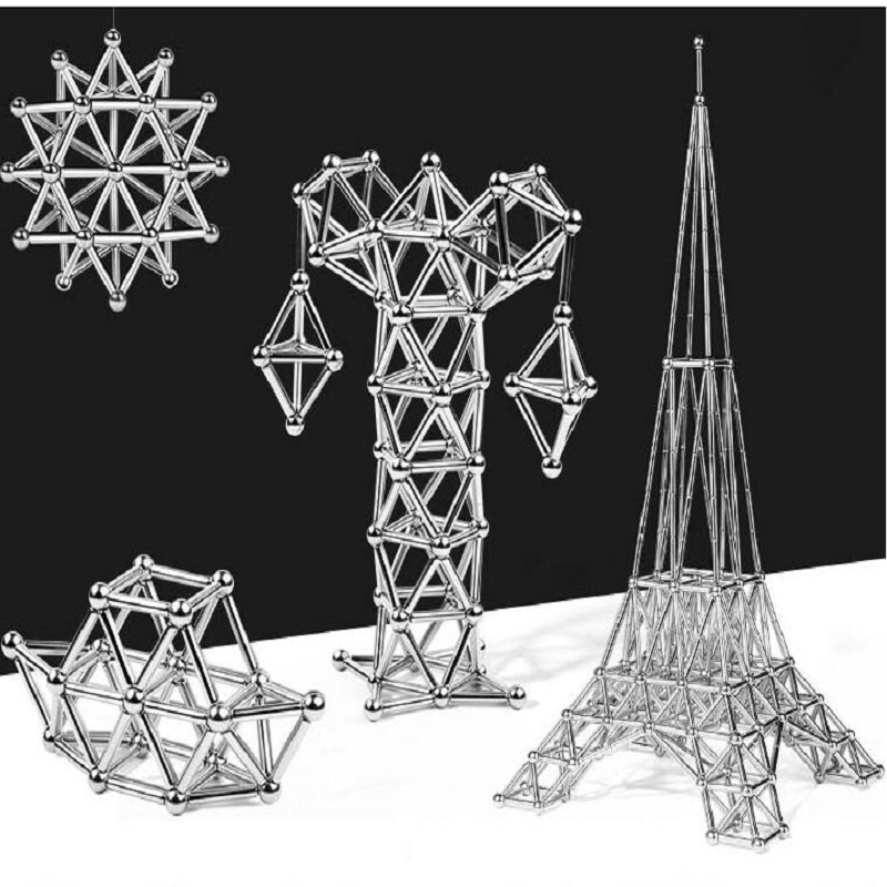 Gift Box Magnetic Building Ball Block Magnet Sculpture Stress Relief for Desk Fridge