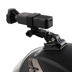 Image 3 - Capacete da motocicleta chapéu de montagem selfie vara braço titular & 3m base cola para dji osmo bolso/osmo bolso 2 cardan câmera acessórios